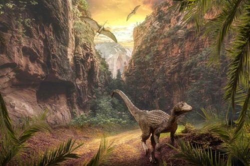 Volcanic-driven climate change aided the dinosaurs' rise to power
