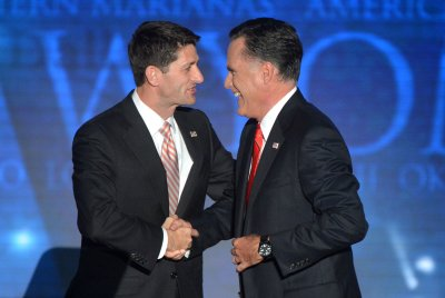 Romney jabs at Dems on 'God'