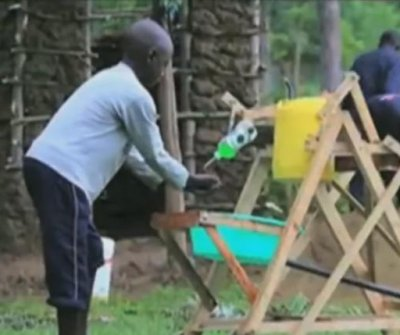 Kenyan boy, 9, receives award for hand-washing machine invention