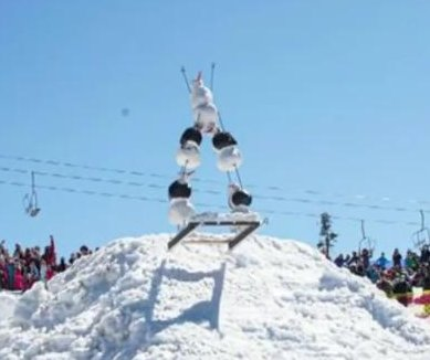 Dressed-up dummies race down ski slope at Oregon resort