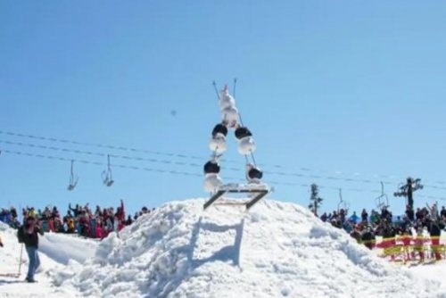 Dressed-up dummies race down ski slope at Oregon resort
