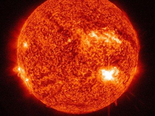 NASA records huge solar flares