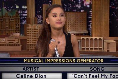 Watch: Ariana Grande imitates Celine Dion on 'Tonight Show'