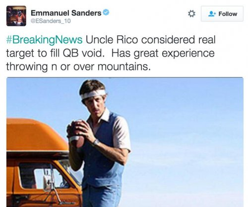 Denver Broncos' Emmanuel Sanders suggests Uncle Rico for quarterback