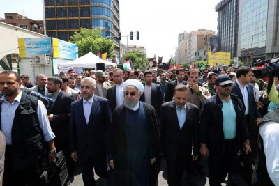 Iran officials mock Trump peace plan during Quds Day event