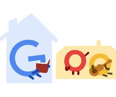 Google promotes staying at home with new Doodle