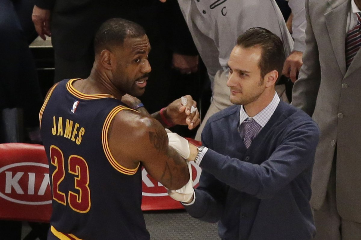LeBron James bristles at coach killer mentary UPI