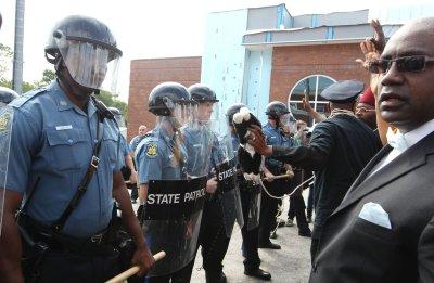 Ferguson Police officer shot