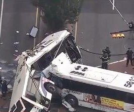 Driver, passenger killed, 19 hurt when buses collide in New Jersey