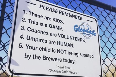 Sign reminds Little League parents: 'This is a GAME'