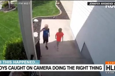 Security camera records Utah boys' 'do the right thing' talk