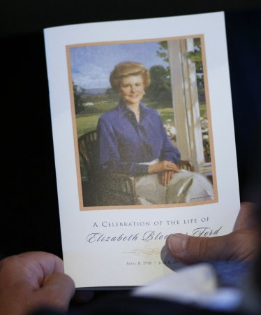 Betty Ford eulogized as a 'trailblazer'