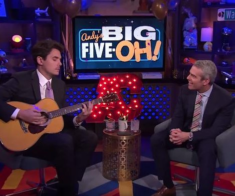 John Mayer covers Diana Ross for Andy Cohen's 50th birthday