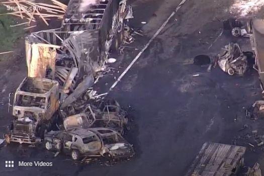 Truck driver Rogel Aguilera charged in fiery freeway crash near