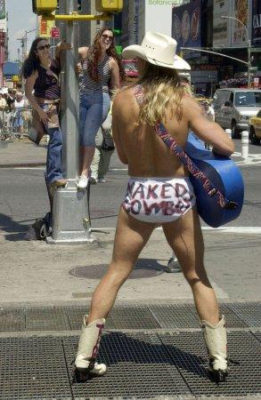 Robert Burck Photos Photos - The Naked Cowboy Officially