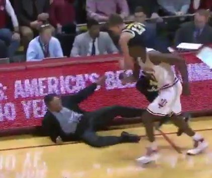 Watch: Tom Crean getting tackled is epitome of Indiana basketball season