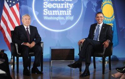 President Obama discusses Ukraine with Kazakh president