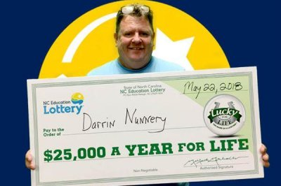 Lottery win stops reluctant player's eye-rolling