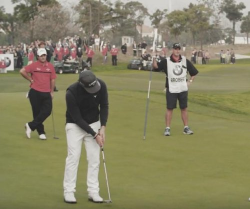 Kristoffer Broberg beats Patrick Reed in playoff for BMW Masters title