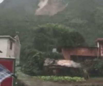 Dozens missing after Typhoon Megi causes landslide in China