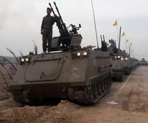 Hezbollah shows off U.S. armored personnel carriers; U.S. wonders how they got them