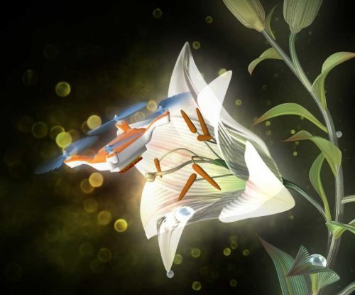 Scientists pollinate flowers with insect-sized drones coated in sticky gel