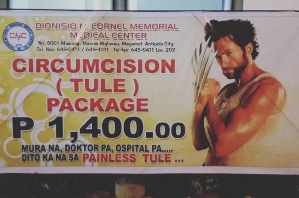 Philippine clinic uses Wolverine to sell circumcisions