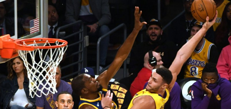 d75b406f1e5 Watch  Larry Nance Jr. throws down tomahawk dunk in Kevin Durant s face -  UPI.com