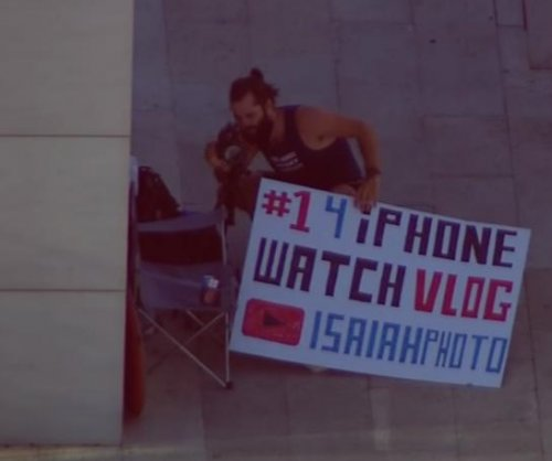 iPhone fan camped out outside Houston store