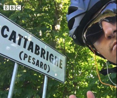 Greek student bikes home from Scotland in 48 days
