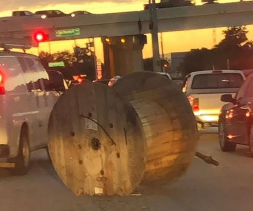 Houston drivers dodge runaway spool for fourth time