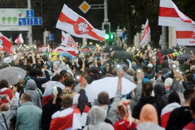 More than 50 people arrested in seventh weekend of Belarus protests