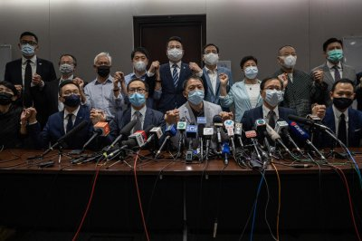 All opposition lawmakers resign in Hong Kong to protest Chinese law