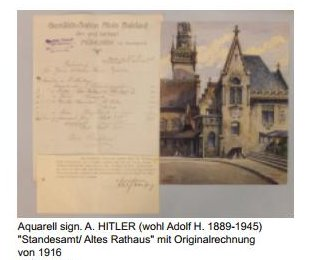 Hitler's watercolor painting of Munich's city hall sells for $161,000