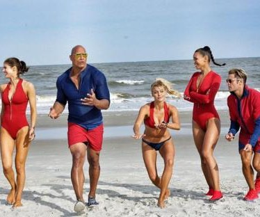 Dwayne Johnson shares first 'Baywatch' cast photo