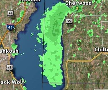 Weather radar picks up mass lake fly hatching