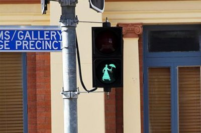 Australian city installs Mary Poppins pedestrian lights