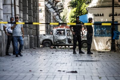 Tunis suicide attacks kill 1 police officer, injure 8