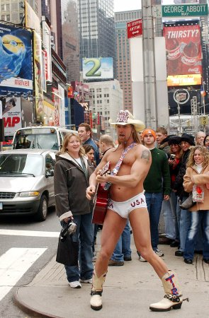 The 'Naked Cowboy' is helping Fruit of the Loom launch its new boxer briefs