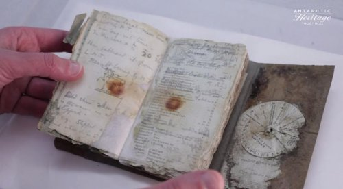 Century-old notebook reveals details of ill-fated Antarctic expedition