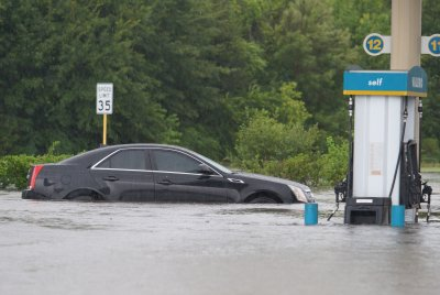 Harvey pushing gas prices up as another storm approaches east coast of U.S.