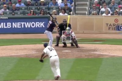 Twins' Fernando Rodney airmails pitch over Indians' Melky Cabrera