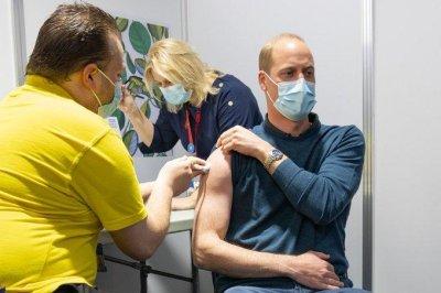 Britain's Prince William posts photo of first COVID-19 vaccine dose