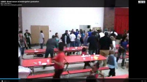 Viral video captures brawl at kindergarten graduation ceremony at Ohio school
