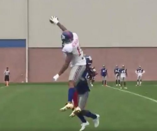 New York Giants' Odell Beckham Jr. makes ridiculous catch at camp