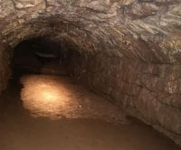 Utility workers find medieval tunnel while relocating a pole in Wales