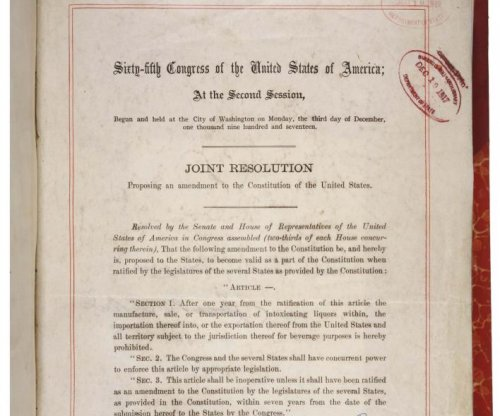 Congress passes Prohibition amendment, now goes to states