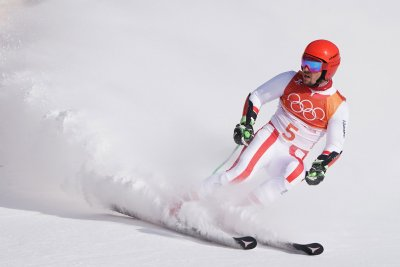 Hirscher doubles up with giant slalom gold at Pyeongchang Winter Olympics