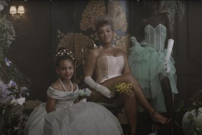 Beyonce poses with Blue Ivy in 'Brown Skin Girl' music video