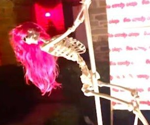 HOA orders removal of woman's strip club-inspired skeleton display